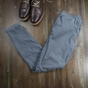 American Eagle Gray/Blue Chinos Slim Fit Sz 32x32